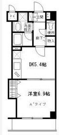 ダイヤハイツ西早稲田4階・2DKの間取り図