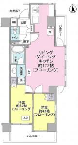 エム・ブランド新宿戸山公園212号室の間取り