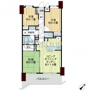 日神パレステージ磯子の森 壱番館の203号室の間取りです。