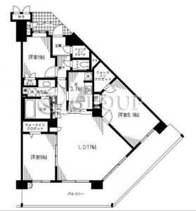 グレーシアヒルズ横濱桜ヶ丘の602号室の間取りです。
