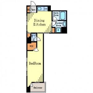 KWレジデンス新川の605号室の間取りです。