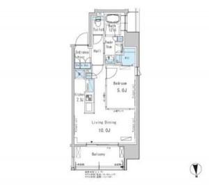パークアクシス新御徒町Eastの902号室の間取りです。