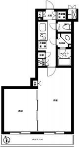 ルーブル世田谷弐番館の402号室の間取りです。