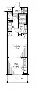 日神デュオステージ関内大通り公園の11階・1LDKの間取りです。
