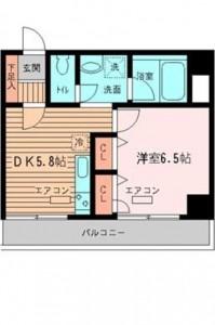 グランセルコーバの3階・1DKの間取りです。