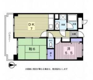 新横浜ガーデンコートBサイドの間取り図