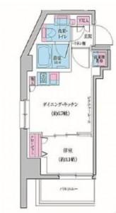 クレヴィアリグゼ雪が谷大塚の301号室の間取り図です。