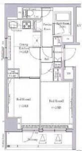 ビルヴィオ東日暮里の301号室の間取り図です。