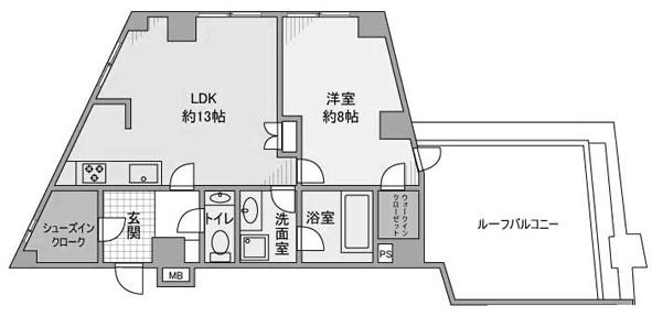1LDK/54.92㎡の間取り図