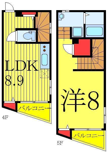 SMAT東池袋の1LDK/40.2㎡の間取り図