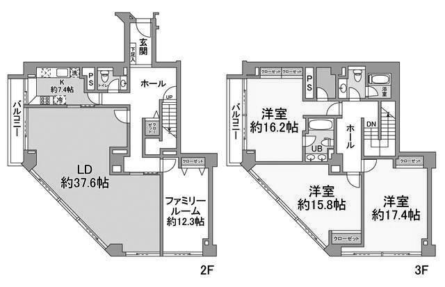 麻布マナーの4LDK/258.78㎡の間取り図