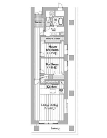 西新橋アルファレジデンスの2LDK/112.52㎡の間取り図