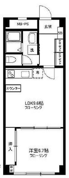 秀和第2三田綱島レジデンスの1LDK/47㎡の間取り図