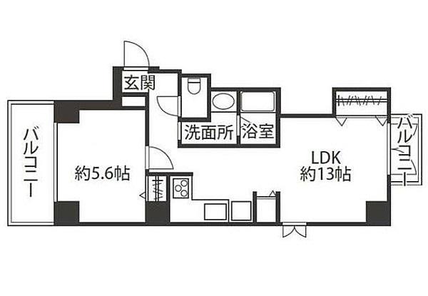 ブレアハウスの1LDK/47.05㎡の間取り図