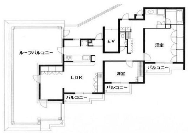 ガーデンヒル恵比寿南の2LDK/91.55㎡の間取り図